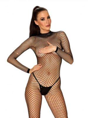 Visnet Catsuit Met Sexy Achterkant - Zwart #1