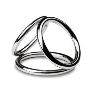 Sinner - Triad Chamber Metalen Cock- En Balring - Large #1
